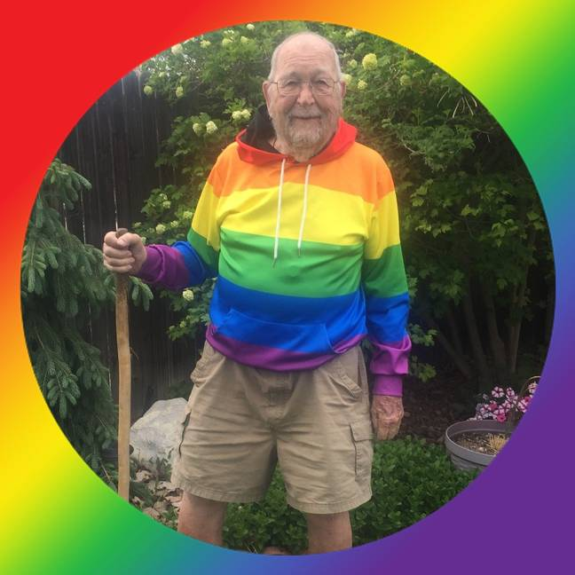 Kenneth, 90, has come out as gay. Credit: Kenneth Felts/Facebook