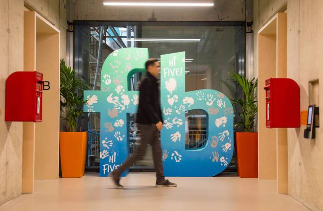 Facebook HQ in London. Credit: PA