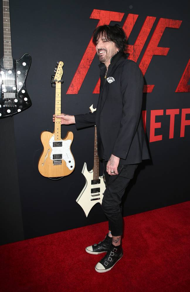 Tommy Lee at last year's premiere of 'The Dirt'. Credit: PA
