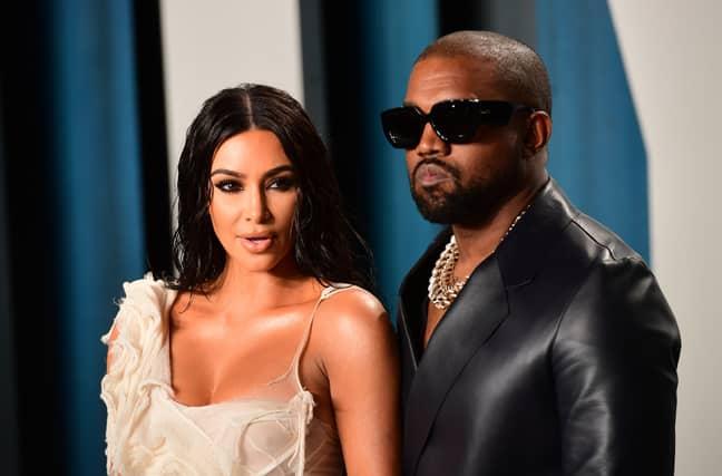 Kim Kardashian and husband Kanye West. Credit: PA