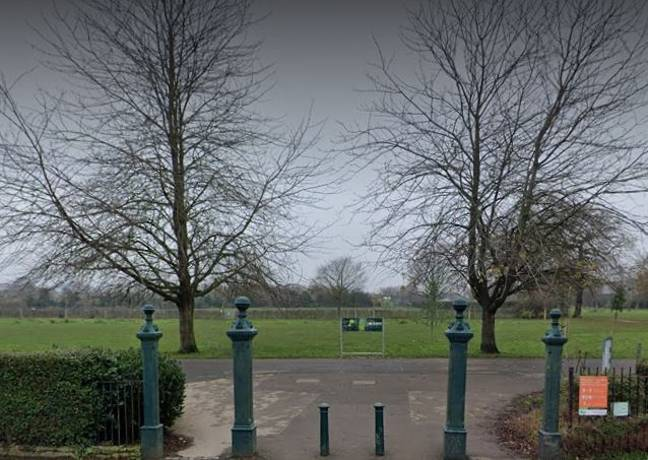 The alleged attack happened in Blondin Park, London. Credit: Google Street View