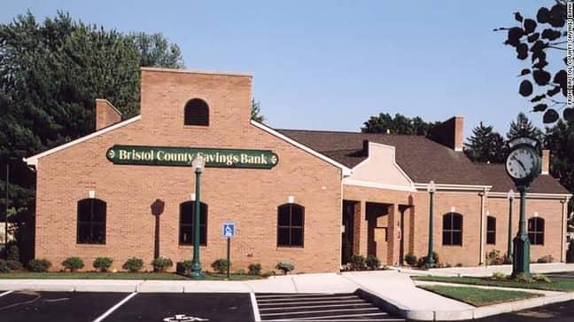 Bristol County Savings Bank, North Attleborough, Massachusetts. Credit: Google Streetview