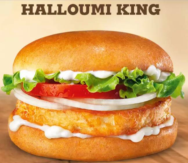 Is it dinner time yet? The New Halloumi Burger. Credit: Burger King