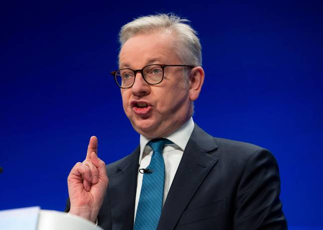 Gove delivering his conference speech. Credit: Mark Thomas/Alamy Live News
