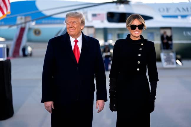 Donald and Melania Trump. Credit: PA