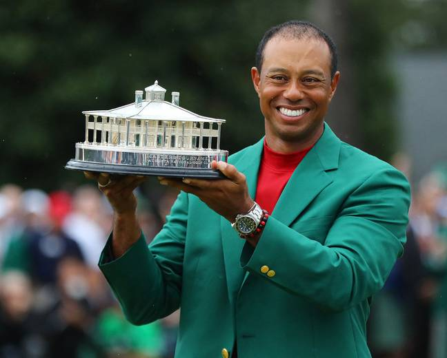 Tiger won his fifth Masters green jacket yesterday at Augusta. Credit: PA