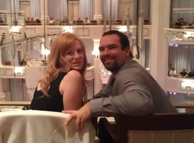 Barnett and her ex-husband Michael. Credit: Kristine Barnett