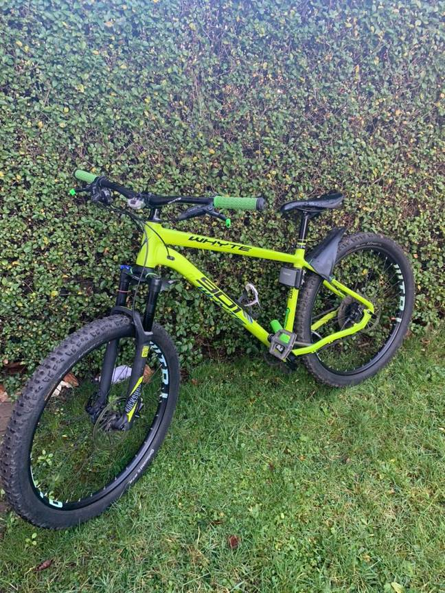 Ste shared a picture of the bike on Twitter in the hope of finding its rightful owner. Credit: Deadline