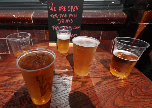 Alcohol is banned for takeaway and click-and-collect under the national lockdown. Credit: PA