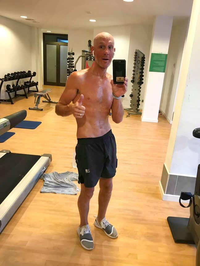 Scott says he's healthier tan he's ever been. Credit: Caters