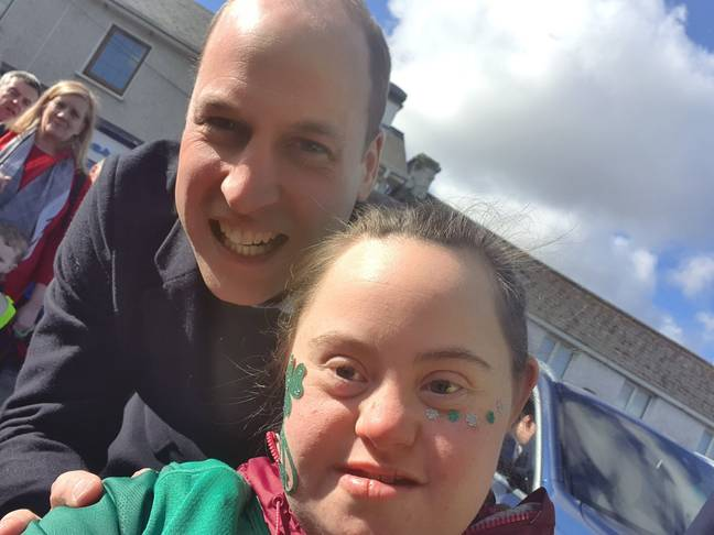 Prince William posed for a selfie with Jennifer Malone. Credit: Twitter/Donna Malone