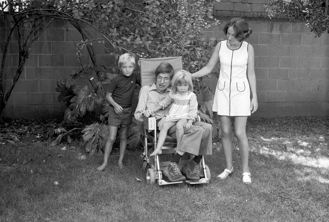 Hawking with his family. Credit: Sky/Hawking Estate