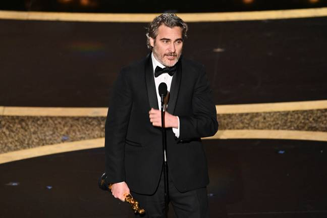 Joaquin Phoenix took to the stage and paid tribute to his late brother. Credit: Shutterstock