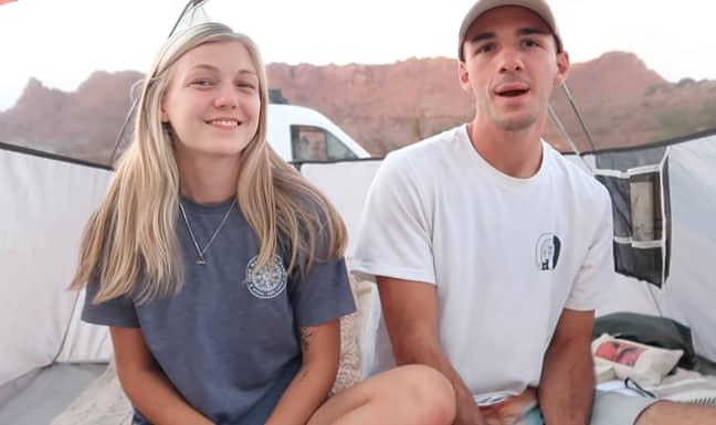 Gabby Petito and her boyfriend Brian Laundrie. Credit: YouTube/Gabriella Petito