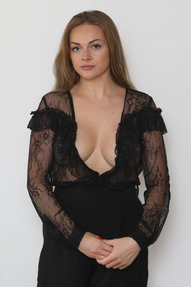 Harriet Osborne was not wearing a bra but did have nipple covers on. Credit: The Sun/News Licensing