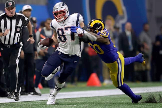 New England Patriots' Rob Gronkowski. Credit: PA