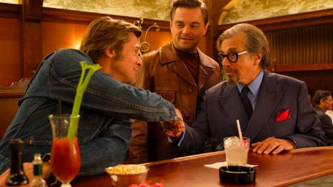 Pitt, Pacino and DiCaprio. Credit: Sony