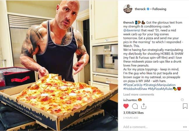 Credit: Instagram/The Rock
