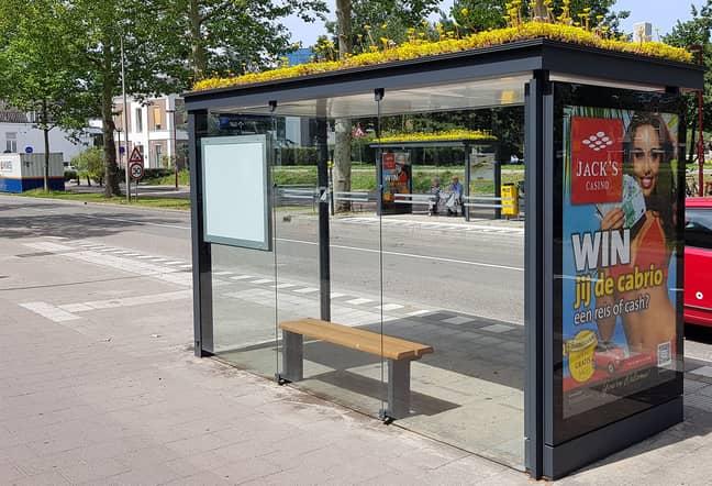 One of the bus stops in Utrecht