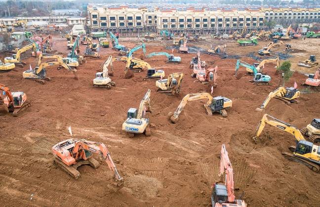 The hospital will sit in the Caidian District of western suburb of Wuhan. Credit: PA