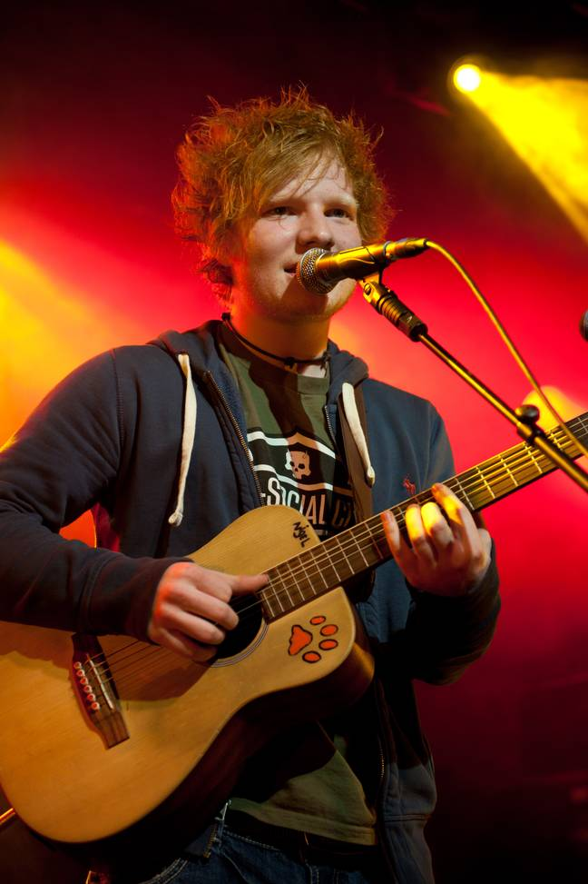 Ed Sheeran often slept rough during his early days. Credit: PA