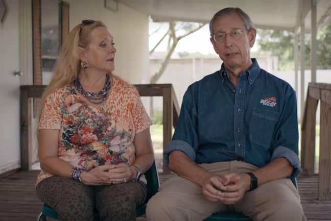Carole with her husband Howard. Credit: Netflix