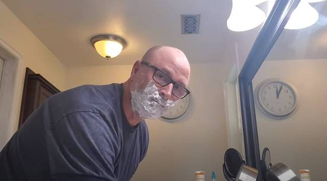 Rob's video on how to shave. Credit: YouTube/Dad, how do I?