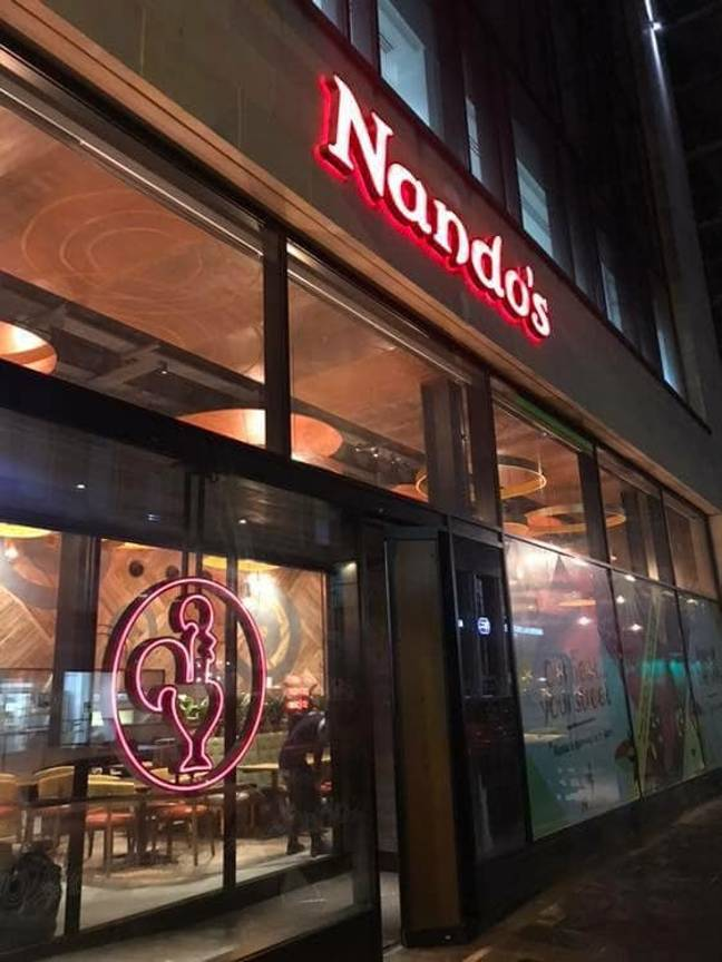 The Nando's in Glasgow is hoping to open on Christmas Day to help homeless people. Credit: Facebook/Nando's Glasgow Waterloo Street