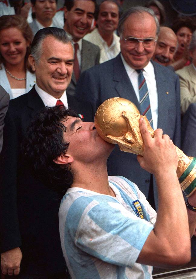 Diego Maradona has died aged 60. Credit: PA