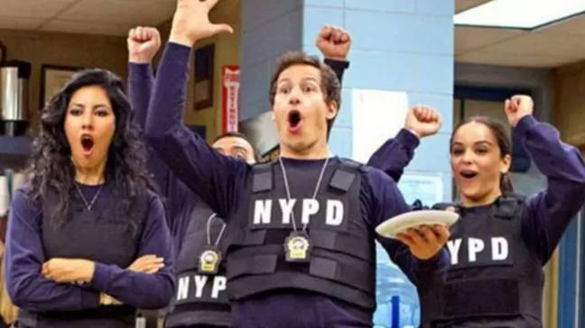 Season eight of Brooklyn Nine-Nine is moving forward in lockdown. Credit: NBC