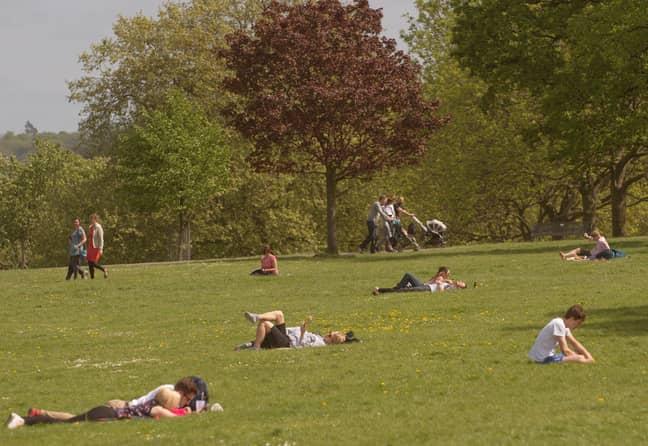 Brockwell Park, pre-lockdown. Credit: PA