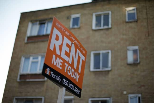 A sign outside a rental property. Credit: PA