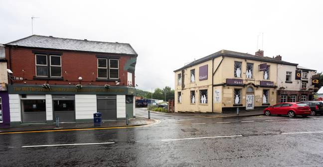 The famous boozer is across the road from the pub with the shortest name in the country. Credit: SWNS