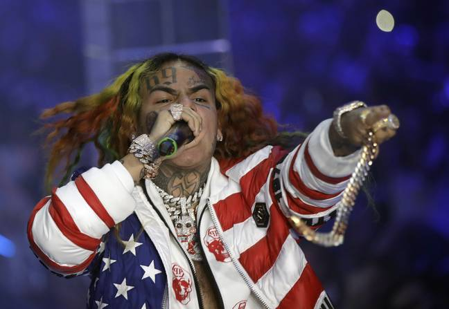 Tekashi 6ix9ine performing. Credit: PA