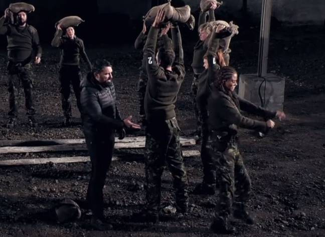 Finally handing Ant Middleton her number. Credit: Channel 4/SAS Who Dares Wins
