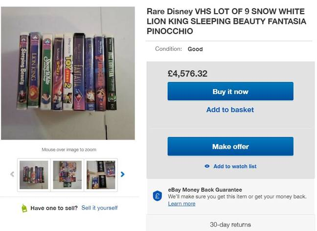 This collection is being sold for a nice £4,500. Credit: eBay