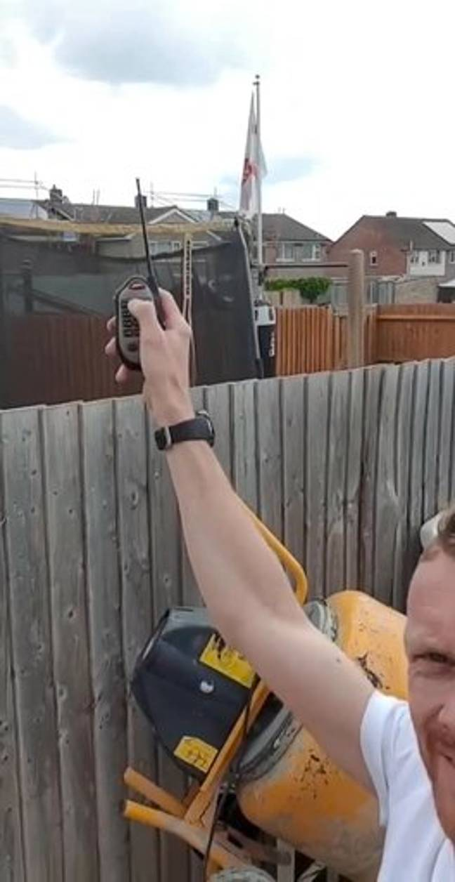 Stuart Panter used a device to call the crows. Credit: Kennedy News and Media