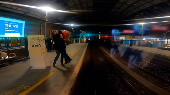 Of course she said yes. Credit Iarnród Éireann
