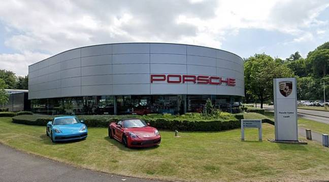 The collision happened close to a Porsche showroom. Credit: Wales News Service