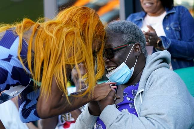 Richardson and her grandmother. Credit: PA