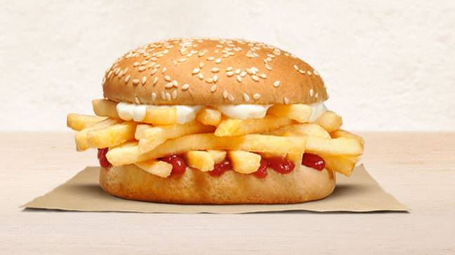 Burger King New Zealand has launched the Chip Butty. Credit: Burger King