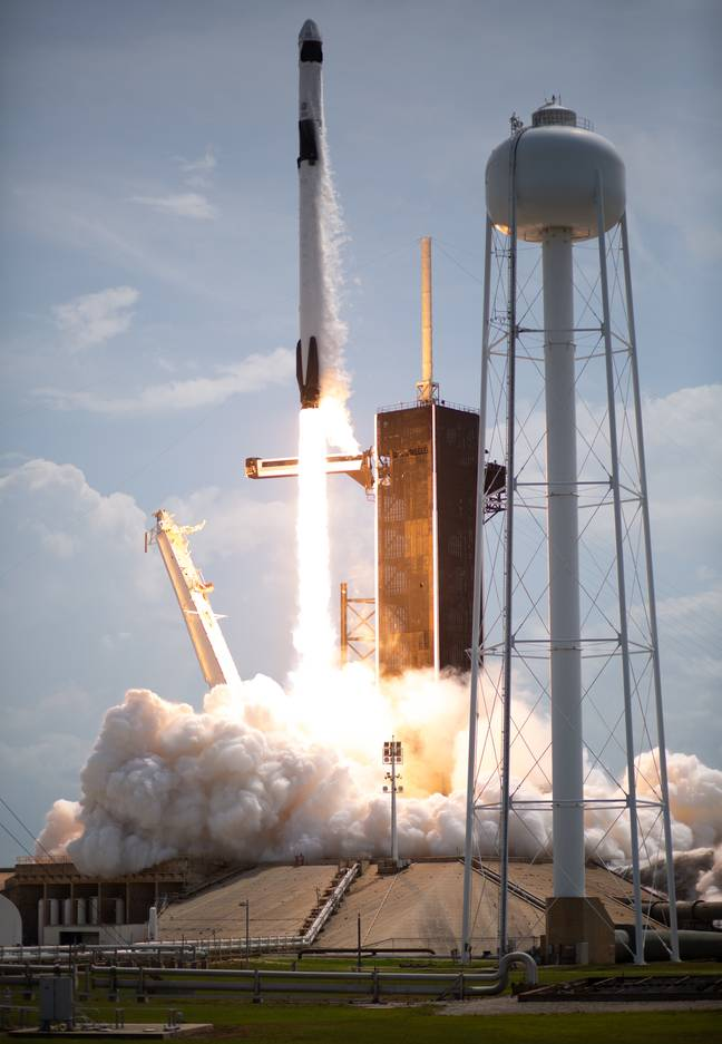 The SpaceX shuttle managed to launch on the second attempt. Credit: PA
