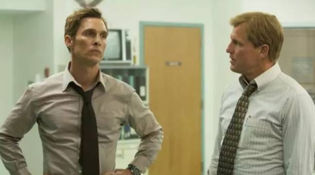 Matthew McConaughey and Woody Harrelson in True Detective. Credit: HBO
