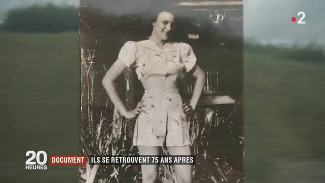 Robbins still had a photo of Jeannine. Credit: 20 heures le journal/France 2