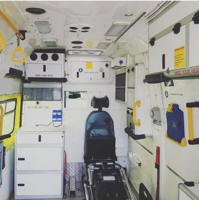 The ambulance before the renovation. Credit: SWNS