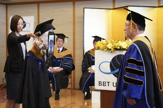 Graduating with no pants on has become a very real possibility. Credit: BBT University