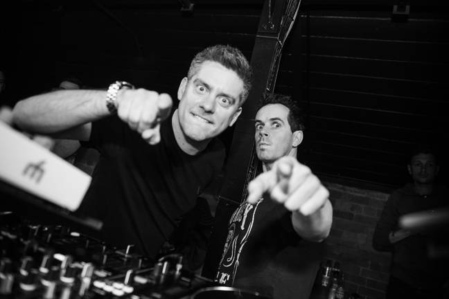 Dick and Dom enjoying their newfound fame as DJs. Credit: Dick And Dom