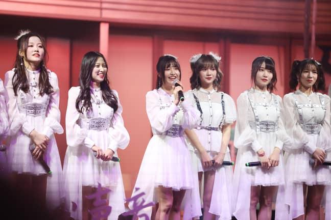 Japanese idol group AKB48 in 2020. Credit: PA
