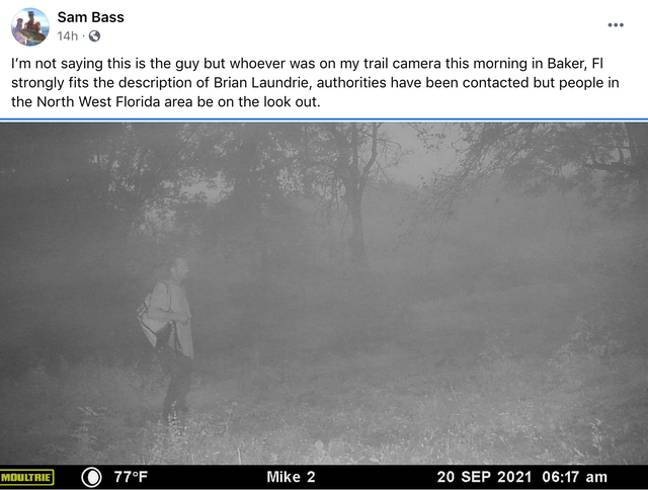 The deer cam captured this picture. Credit: Facebook/Sam Bass