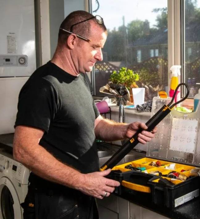 Mr Anderson helps people who can't afford to get their boiler fixed. Credit: SWNS